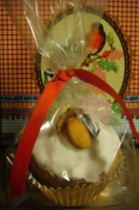 pan de especias en molde de cupcake