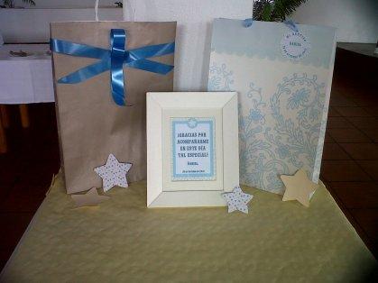 detalles de la mesa delos regalos